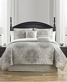 Ameline Reversible Queen 4 Piece Comforter Set