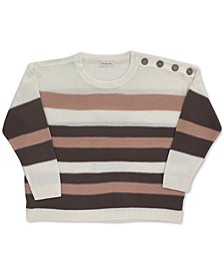 Trendy Plus Size Striped Sweater