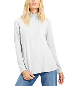 Mock-Neck Knit Top, Created for Macy's