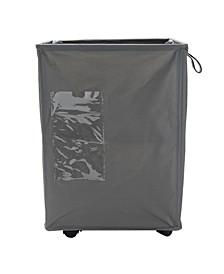 65 Liter Rolling Laundry Hamper, Fabric Laundry Basket