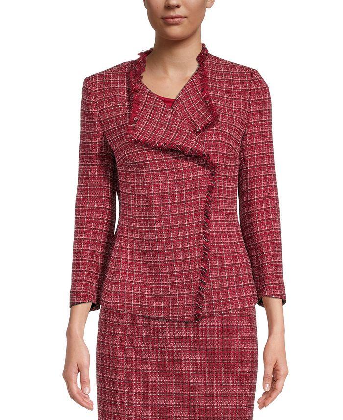 Kasper - Tweed Fringe Jacket