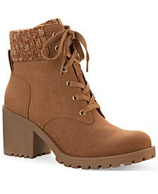 Romina Lace-up Hiker Booties, Created for Macy's