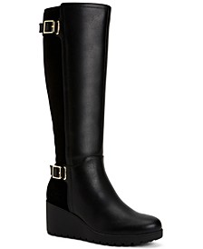 Sannaa Wedge Boots, Created for Macy's