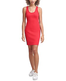 Ribbed Graphic Bodycon Dress