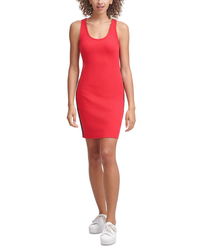 Calvin Klein Jeans - Ribbed Graphic Bodycon Dress