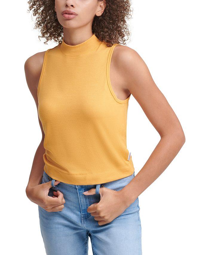 Calvin Klein Jeans - Sleeveless Mock Neck Top