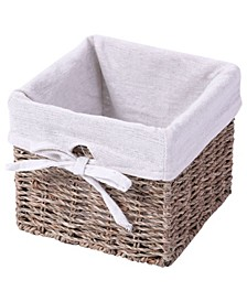 Seagrass Small Shelf Storage Basket with Lining