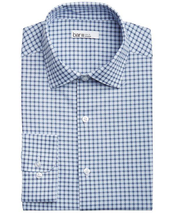 Bar III Men's Slim-Fit Performance Stretch Modern Houndstooth-Print Dress Shirt, Created for Macy's