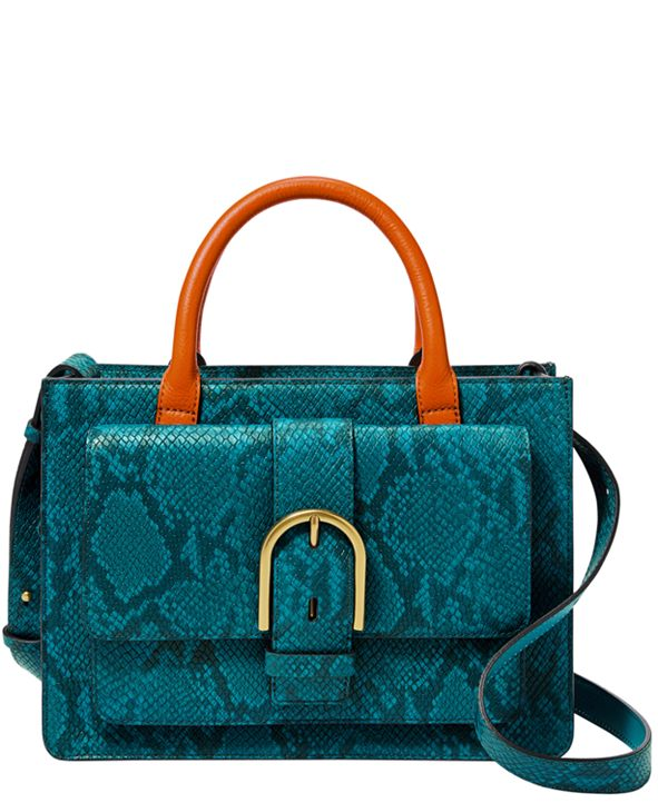 Fossil Women's Wiley Leather Satchel