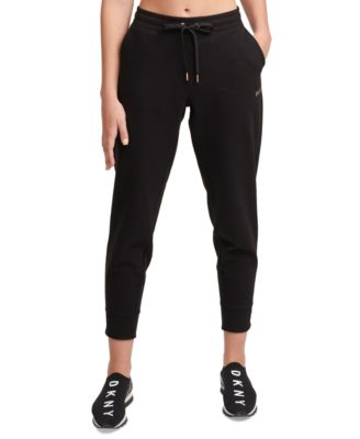 Sport Metallic-Logo Fleece Jogger Pants