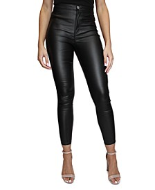 Juniors' Coated High-Rise Skinny Jeans