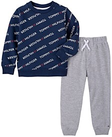Baby Boys Tommy Logo Fleece Pant Set