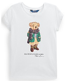 Calvin Klein Big Girl Cardigan Bear Jersey Tee