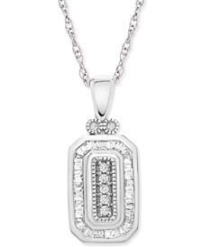 """Diamond Deco 20"""" Pendant Necklace (1/4 ct. t.w.) in 14k White Gold, Created for Macy's"""