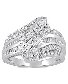 Diamond Cluster Statement Ring (1 ct. t.w.) in 10K White Gold