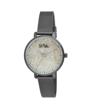 Women's Black Alloy Bracelet Glitter Dial Mesh Watch