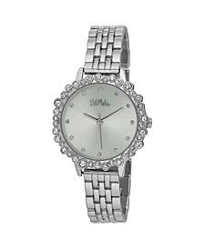 Women's Silver-Tone Alloy Bracelet Crystal Bezel Watch, 31mm