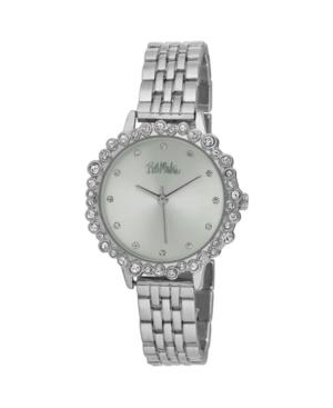 Women's Silver-Tone Alloy Bracelet Crystal Bezel Watch