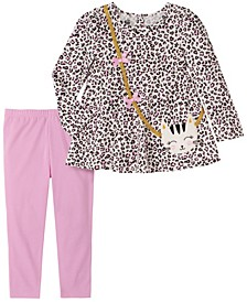 Little Girl 2-Piece Tunic Top with Legging Set