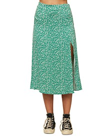 Juniors' Tribiani Printed Midi Skirt