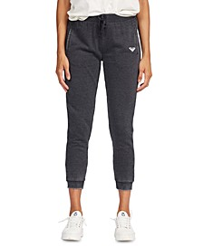 Juniors' Groovy Song Cropped Jogger Pants