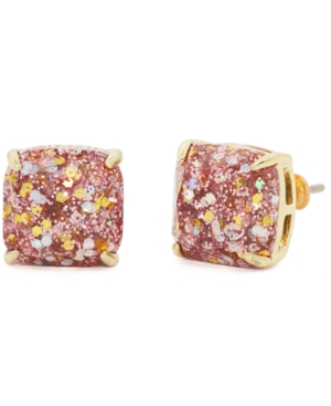 Kate Spade GLITTER CRYSTAL MINI SQUARE STUD EARRINGS