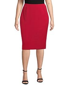 Plus Size Skimmer Skirt