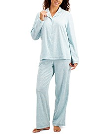 Printed Fleece Pajama Set, Created for Macy's