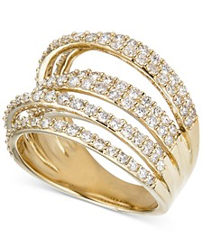 Diamond Multi-Level Statement Ring (2 ct. t.w.) in 14k Gold