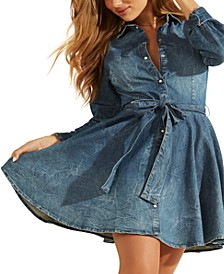 Raya Belted Denim Shirtdress