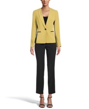 Contrast Blazer Pantsuit