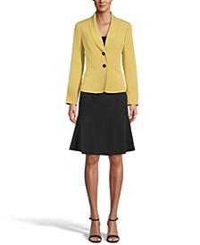 Petite Shawl-Collar Skirt Suit