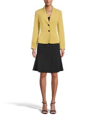 Shawl-Collar Flounce-Skirt Suit