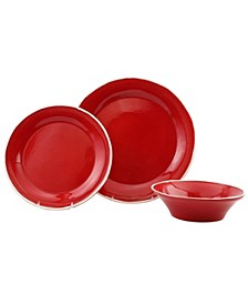 Chroma Red 3-Piece Place Setting