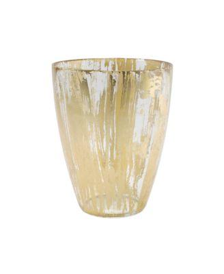 Rufolo Glass Gold Brushstroke Vase