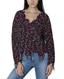 Ultra Flirt Juniors' Destructed Chenille Sweater