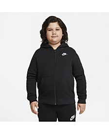Big Boys Sportswear Club Fleece Full-Zip Hoodie (Extended Size)