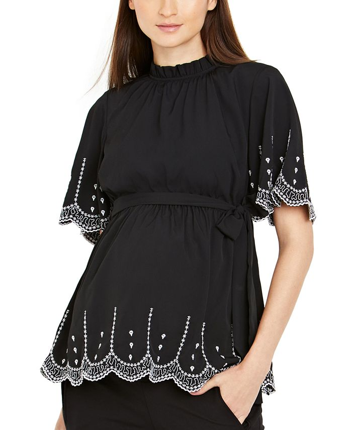 A Pea in the Pod - Maternity Embroidered Blouse