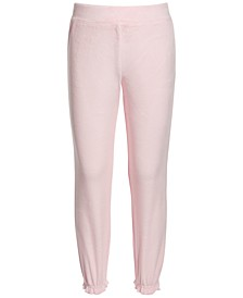 Little Girls Velour Glitter Sweat Pants, Created for Macy's