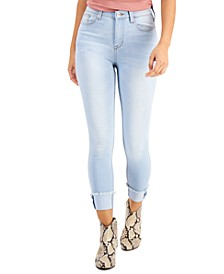Juniors' High-Rise Cuffed Skinny Jeans