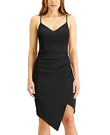 Juniors' Asymmetrical-Hem Dress