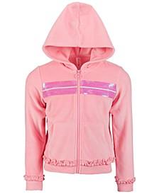 Little Girls Velour Sequin Zip-Up Hoodie, Created for Macy's