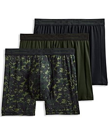 Men's 3-Pack Active Microfiber Boxer Briefs