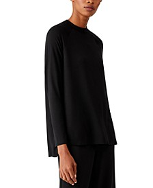 Side-Vent Crewneck Top