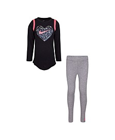 Little Girls T-shirt and Leggings Set