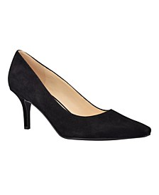 Abigal Women's Low Heel Snip Toe Pumps