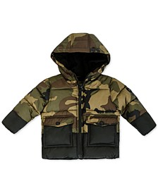 Baby Boys Colorblocked Camo-Print Jacket