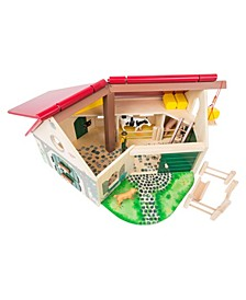 Small Foot Wooden Toys Farmhouse Barn Wood friends Play world