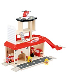 Small Foot Wooden Toys Fire Station Playset