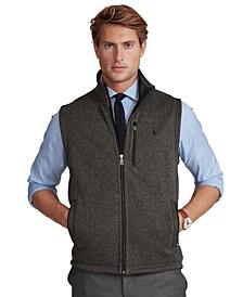 Men's Fleece Mock-Neck Vest